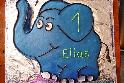 Lettas kleine blaue Elefant  - Motivtorte 7