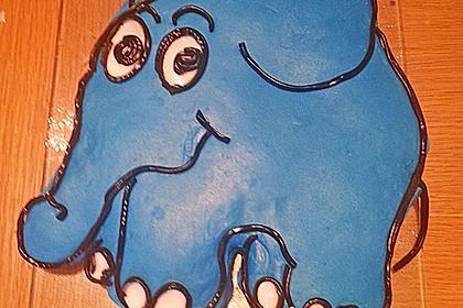 Lettas kleine blaue Elefant  - Motivtorte 74
