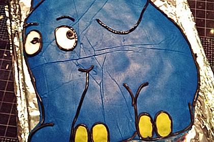 Lettas kleine blaue Elefant  - Motivtorte 116