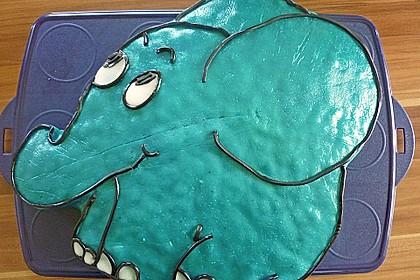 Lettas kleine blaue Elefant  - Motivtorte 86