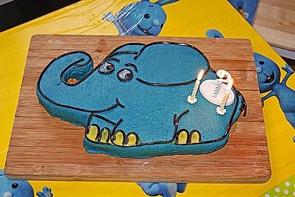 Lettas kleine blaue Elefant  - Motivtorte 10