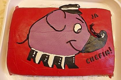 Lettas kleine blaue Elefant  - Motivtorte 57