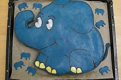 Lettas kleine blaue Elefant  - Motivtorte 3