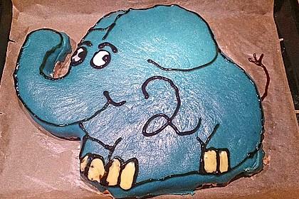 Lettas kleine blaue Elefant  - Motivtorte 25