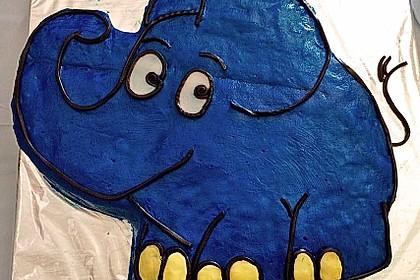 Lettas kleine blaue Elefant  - Motivtorte 11