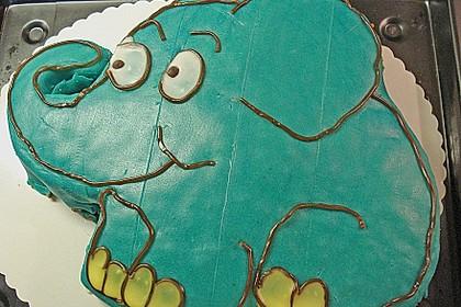 Lettas kleine blaue Elefant  - Motivtorte 163