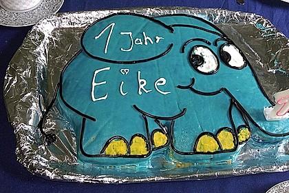 Lettas kleine blaue Elefant  - Motivtorte 127