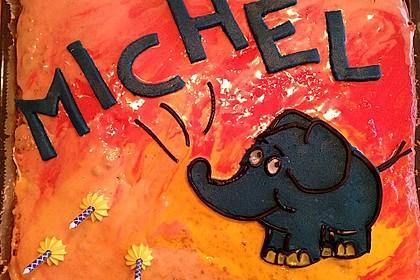 Lettas kleine blaue Elefant  - Motivtorte 102