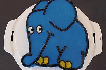 Lettas kleine blaue Elefant  - Motivtorte 28