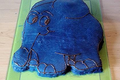 Lettas kleine blaue Elefant  - Motivtorte 159