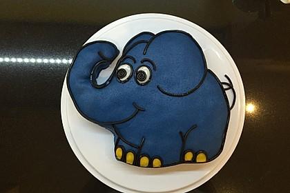 Lettas kleine blaue Elefant  - Motivtorte 9