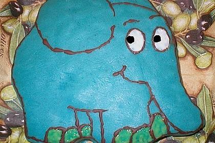 Lettas kleine blaue Elefant  - Motivtorte 97