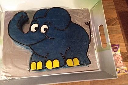 Lettas kleine blaue Elefant  - Motivtorte 41