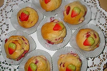 Fettarme Erdbeermuffins 6