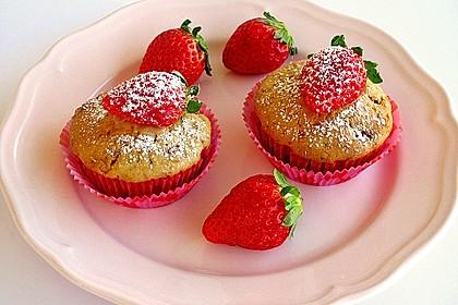 Fettarme Erdbeermuffins 2