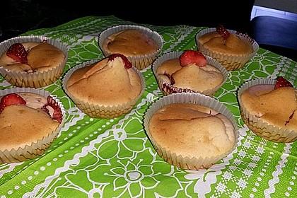 Fettarme Erdbeermuffins 22