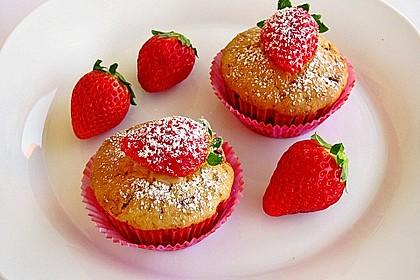 Fettarme Erdbeermuffins