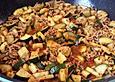 Zucchini - Hack - Pfanne mit Curry