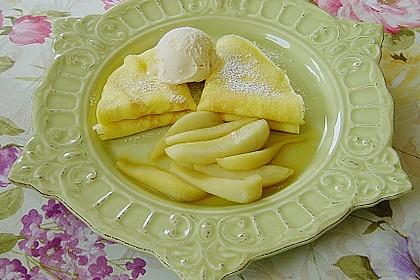 Crêpes mit heißen Birnen 3