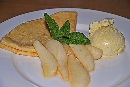 Crêpes mit heißen Birnen 5