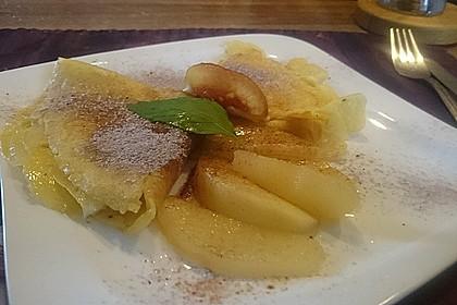 Crêpes mit heißen Birnen 2