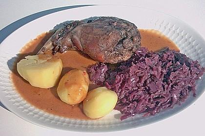 Kaninchen in Rotwein - Creme fraiche Sauce 2