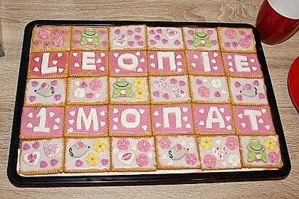 Keks kuchen auf blech
