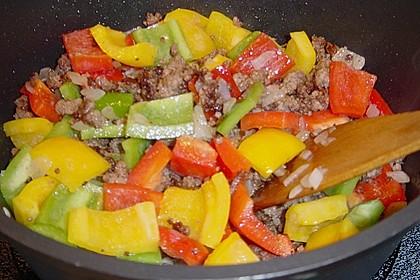 Gemüsetopf mit Paprika, Hackfleisch, Zucchini und Pilzen 19