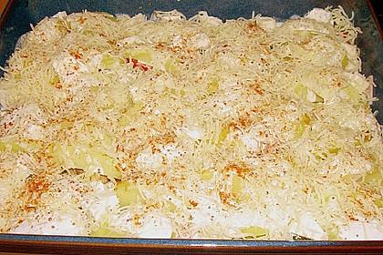 Gebackene Kartoffeln mit Lauch und Hähnchen 5