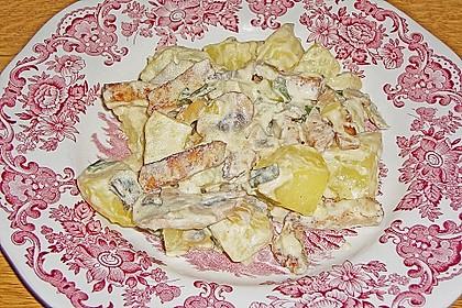 Gebackene Kartoffeln mit Lauch und Hähnchen 1
