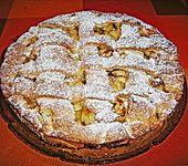 Apfel - Marzipankuchen mit Gitter (Bild)