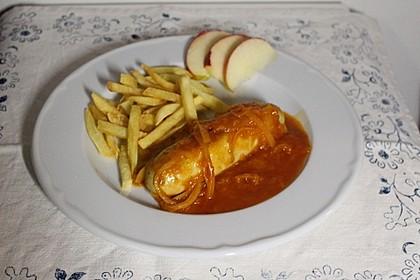 Bratwurst mit Zwiebel - Curry - Soße 3