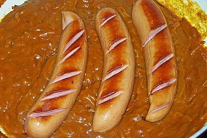 Bratwurst mit Zwiebel - Curry - Soße 6