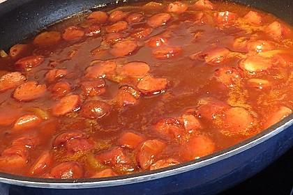 Bratwurst mit Zwiebel - Curry - Soße 2