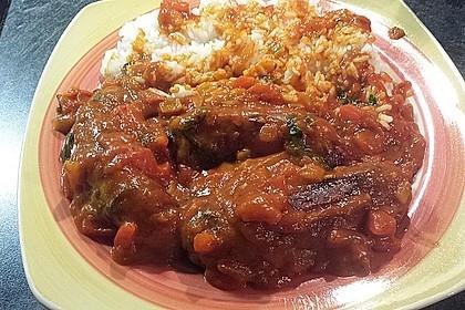 Bratwurst mit Zwiebel - Curry - Soße 8