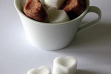 zuckerherzen f r cappuccino kaffee oder tee rezept mit bild. Black Bedroom Furniture Sets. Home Design Ideas