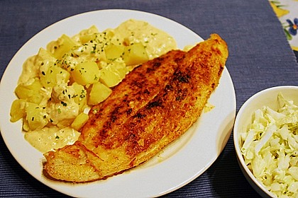 Pangasius mit Zitronen - Dill - Sauce 10