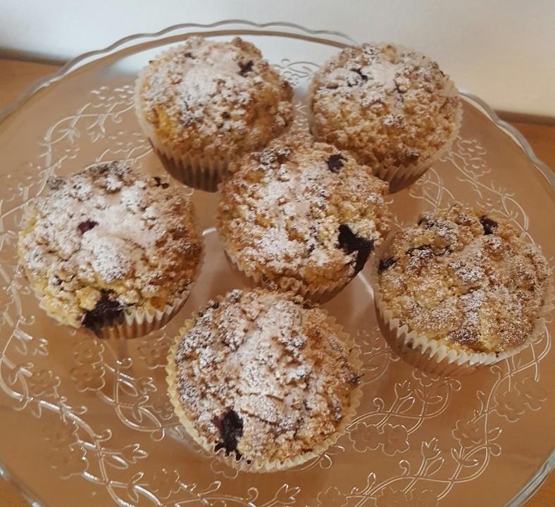 blaubeer muffins mit streuseln — rezepte suchen