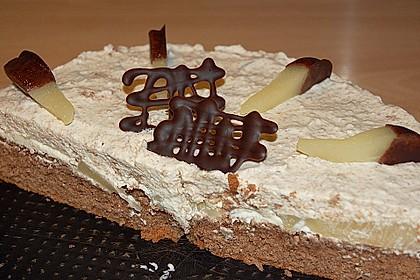 Birnen - Schokoladen Torte 7