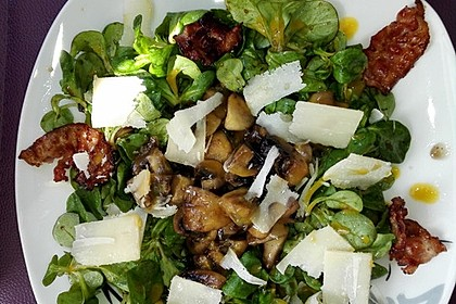 Salat mit Honigchampignons 4