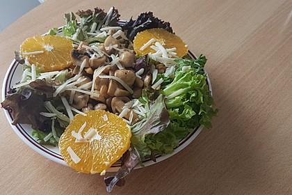 Salat mit Honigchampignons 11