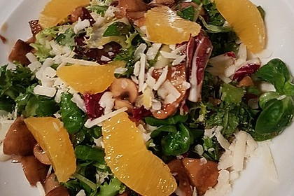 Salat mit Honigchampignons 5