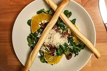 Salat mit Honigchampignons 48