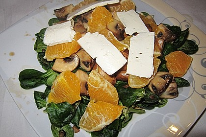 Salat mit Honigchampignons 36