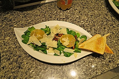 Salat mit Honigchampignons 13