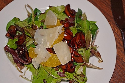 Salat mit Honigchampignons 14