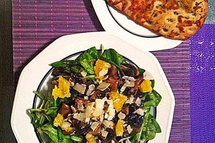 Salat mit Honigchampignons 45