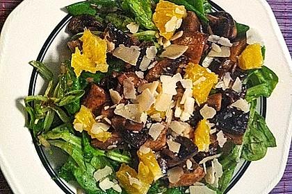 Salat mit Honigchampignons 23