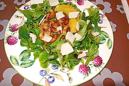 Salat mit Honigchampignons 19