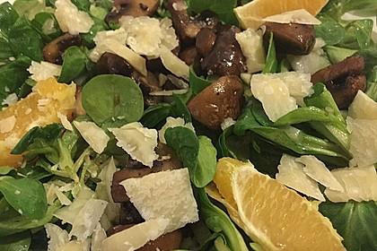 Salat mit Honigchampignons 26